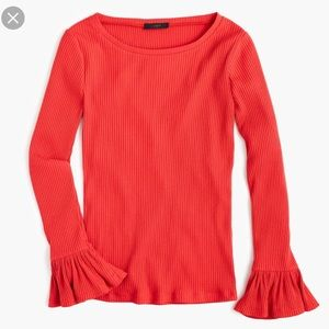 J. Crew women's ribbed bell sleeve top size Small